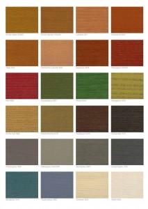 Transparante buitenbeits kleuren