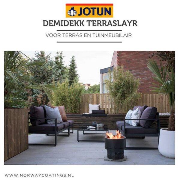 Jotun Demidekk Terraslasyr – voor terras en tuinmeubilair