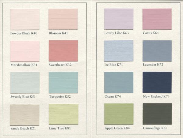 painting the past touch of color kleurenkaart koopverfonline. Black Bedroom Furniture Sets. Home Design Ideas