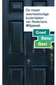 Voorblad brochure Wijzonol Hoogglans goed beter best
