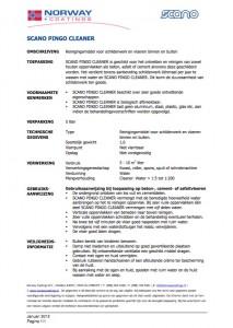 Technische info Pingo Cleaner