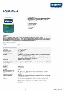 productinfo Wijzonol Aqua Blank
