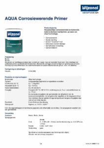 productinfo Wijzonol Aqua Corrosiewerende Primer