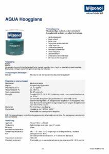productinfo Wijzonol Aqua Hoogglans