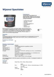 productinfo Wijzonol Spacklatex