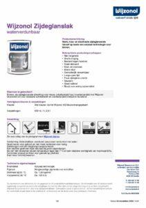 productinfo Wijzonol Zijdeglanslak waterverdunbaar