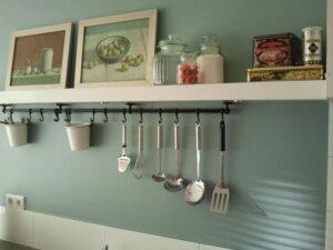 Sealer aangebracht in de keuken (kleur Eucalyptus)