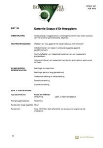 voorkant Boonstoppel Exqua D'or hoogglans