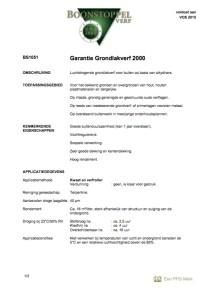 voorkant Boonstoppel Garantie Grondlakverf 2000
