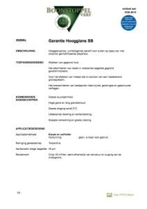 voorkant Boonstoppel Garantie Hoogglans SB