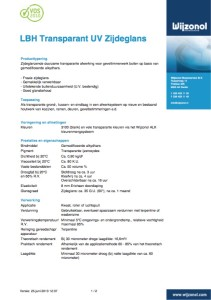 Voorblad Wijzonol LBH Transparant UV Zijdelglans