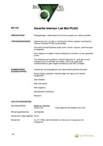 Voorkant Boonstoppel Garantie Interieur Lak Mat