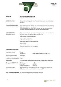 voorkant Boonstoppel Garantie Standverf