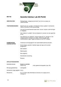 voorkant boonstoppel garantie interieur lak zg pu:ac