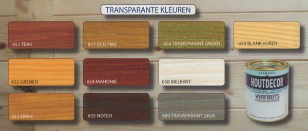 Hermadix Houtdecor transparante kleuren