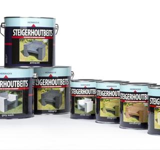 Hermadix Steigerhoutbeits overzicht producten