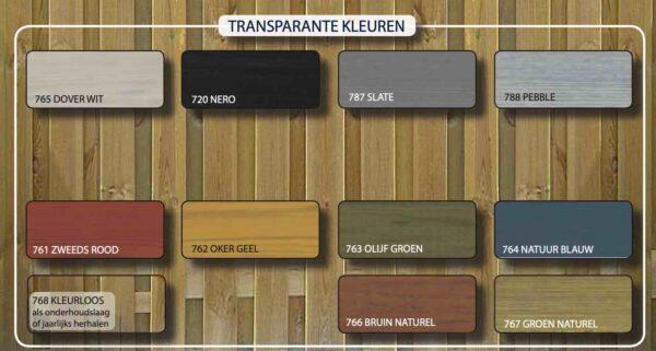 Hermadix Tuindecoratiebeits overzicht transparante kleuren
