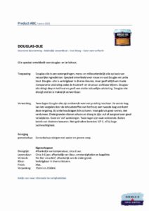 Informatieblad Hermadix Douglas Olie