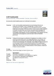 Veiligheidsblad Hermadix E-Off Hardhoutolie