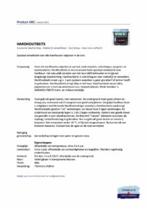 Veiligheidsblad Hermadix Hardhoutbeits