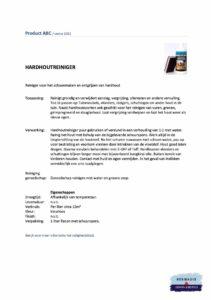 Veiligheidsblad Hermadix Hardhoutreiniger