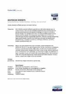 Veiligheidsblad Hermadix Houtdecor Verfbeits