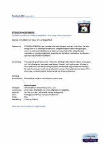 Veiligheidsblad Hermadix Steigerhoutbeits