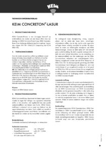 productinfo KEIM Concreton Lasur