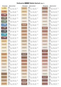 Kleurenkaart KEIM Exclusiv