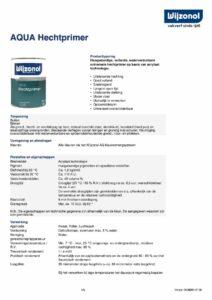 productinfo Wijzonol Aqua Hechtprimer