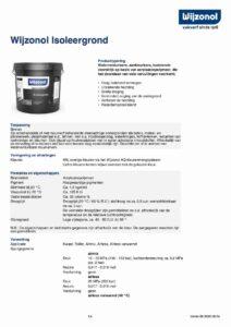 productinfo Wijzonol Isoleergrond