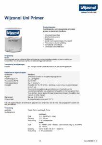 productinfo Wijzonol Uni Primer