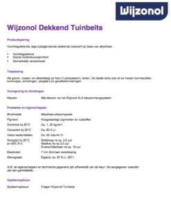 productinfo Wijzonol Dekkend Tuinbeits