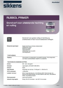 productinfo Sikkens Rubbol Primer