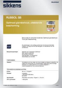 productinfo Sikkens Rubbol SB