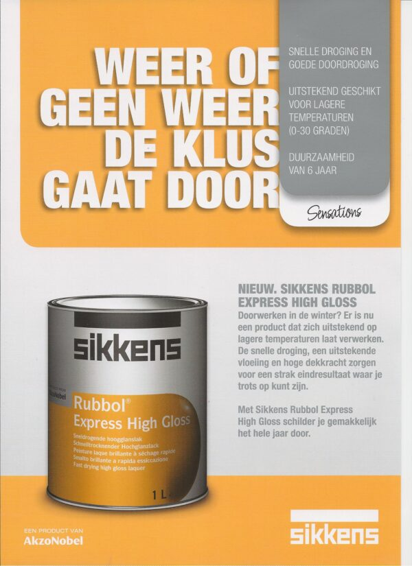 Leaflet Sikkens Rubbol Express High Gloss