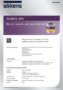 productinfo Sikkens Rubbol EPS