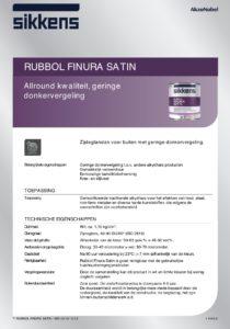 productinfo Sikkens Rubbol Finura Satin