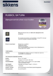 productinfo Sikkens Rubbol Satura