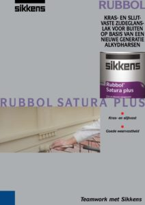 Brochure Sikkens Rubbol Satura Plus