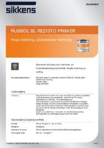 productinfo Sikkens Rubbol BL Rezisto Primer