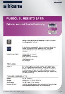 productinfo Sikkens Rubbol BL Rezisto Satin
