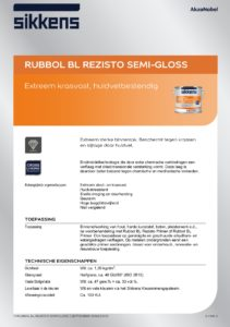 productinfo Sikkens Rubbol BL Rezisto Semi Gloss