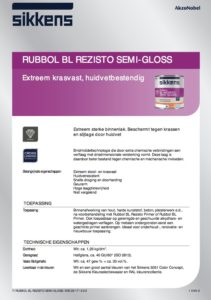 productinfo Sikkens Rubbol BL Rezisto Semi-Gloss