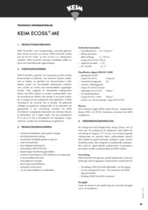 productinfo KEIM Ecosil ME