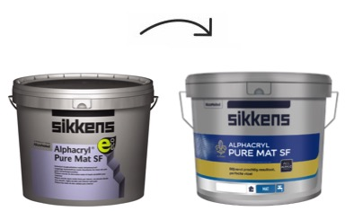 Sikkens Alphacryl Pure Mat nieuwe verpakking