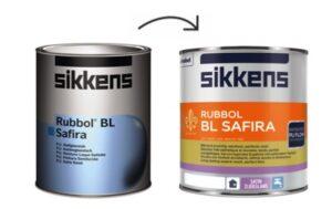 nieuwe verpakking Sikkens Rubbol BL Safira