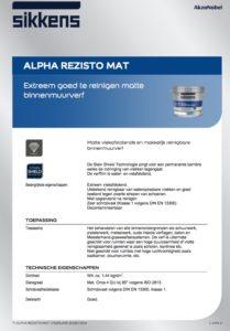 productinfo Sikkens Alpha Rezisto Mat