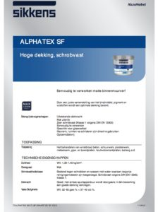 productinfo Sikkens Alphatex SF