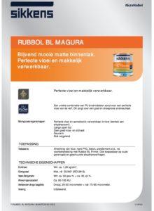 productinfo Sikkens Rubbol BL Magura